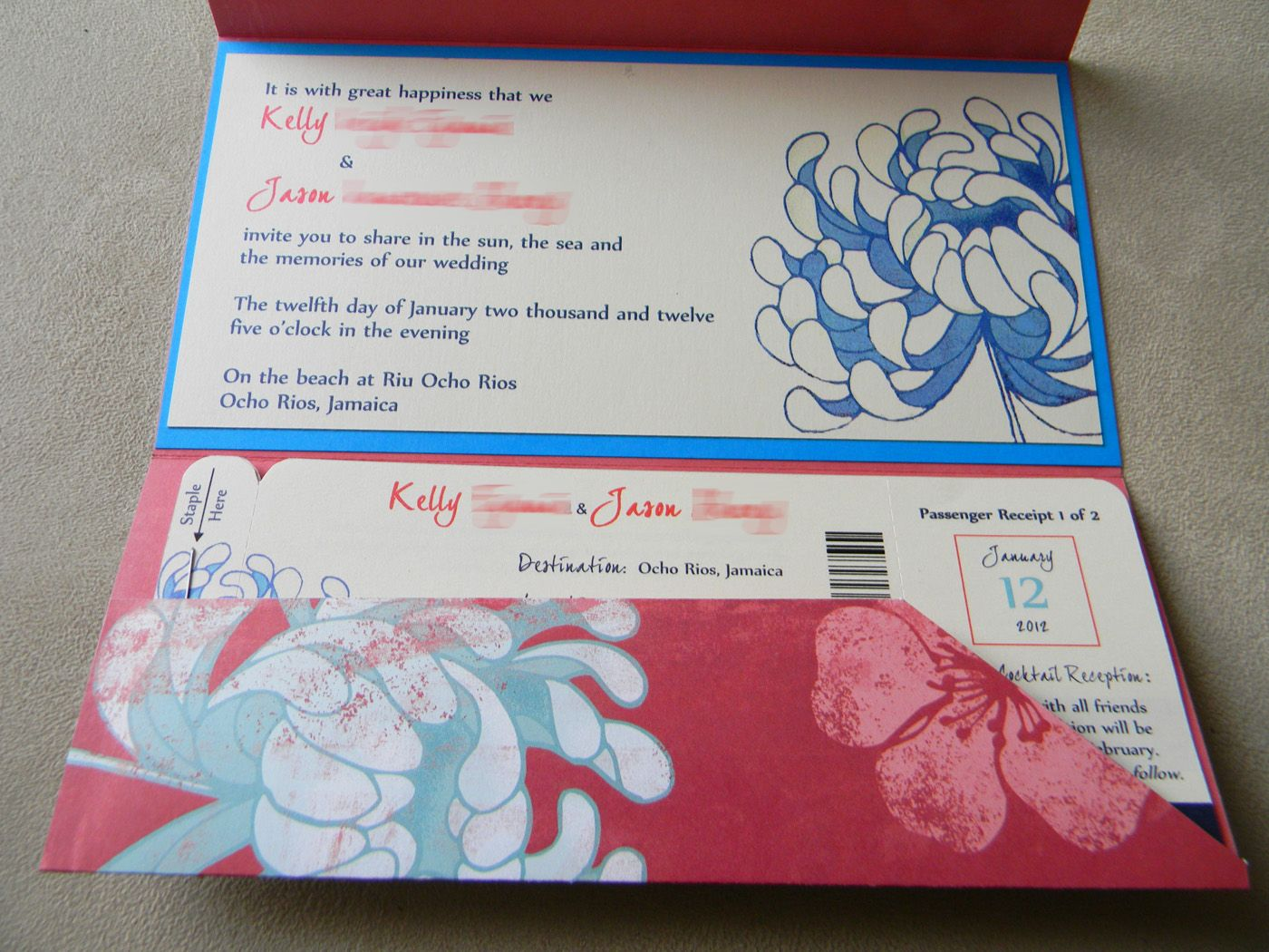 DIY Boarding Pass Wedding Invitations – Part One: Pocket Fold ...