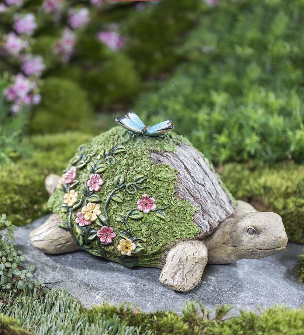Woodland Turtle Garden Accent   Garden Statues   Garden ...