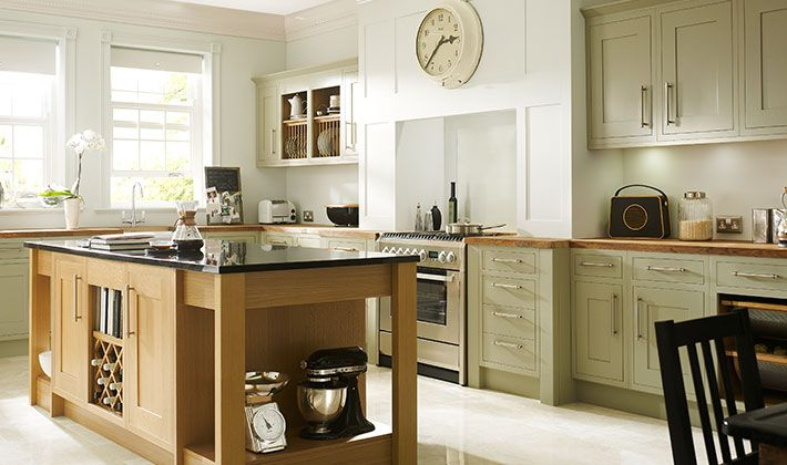 Sage green painted kitchen cabinets ideas for the house for Kitchen 0 finance wickes