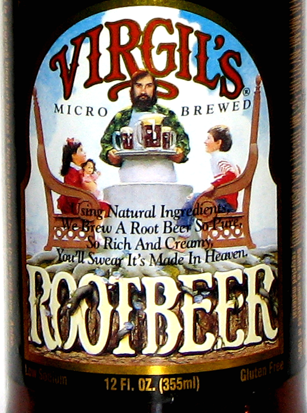 Virgil S Root Beer Label Using Natural Ingredients We Brew A Root