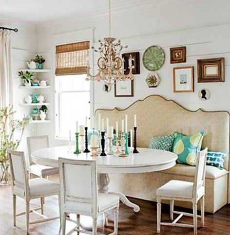 Un Amour De Banquette Materiaux Anciens Chaise Banc Et - Table salle a manger avec banc pour idees de deco de cuisine