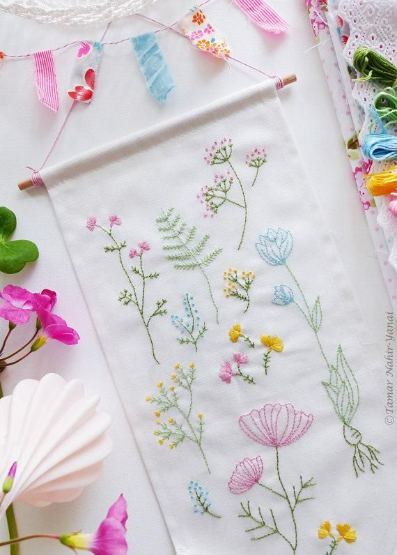 Stitch up your own botanical sampler with TamarNahirYanai's embroidery kits. #DIY