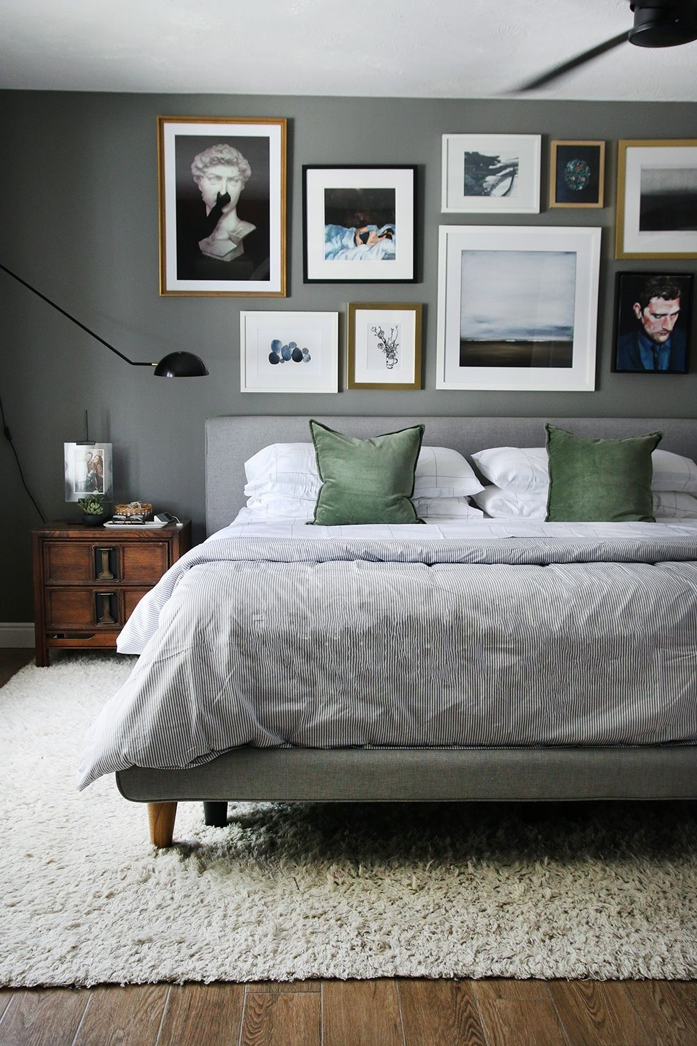 The 6 Year Evolution of Our Bedroom #graybedroomwithpopofcolor