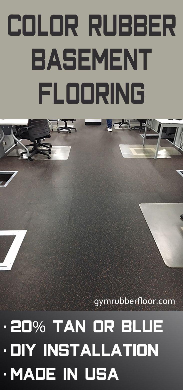 Geneva Rubber Tile 1/4 Inch 20 Color Basement flooring