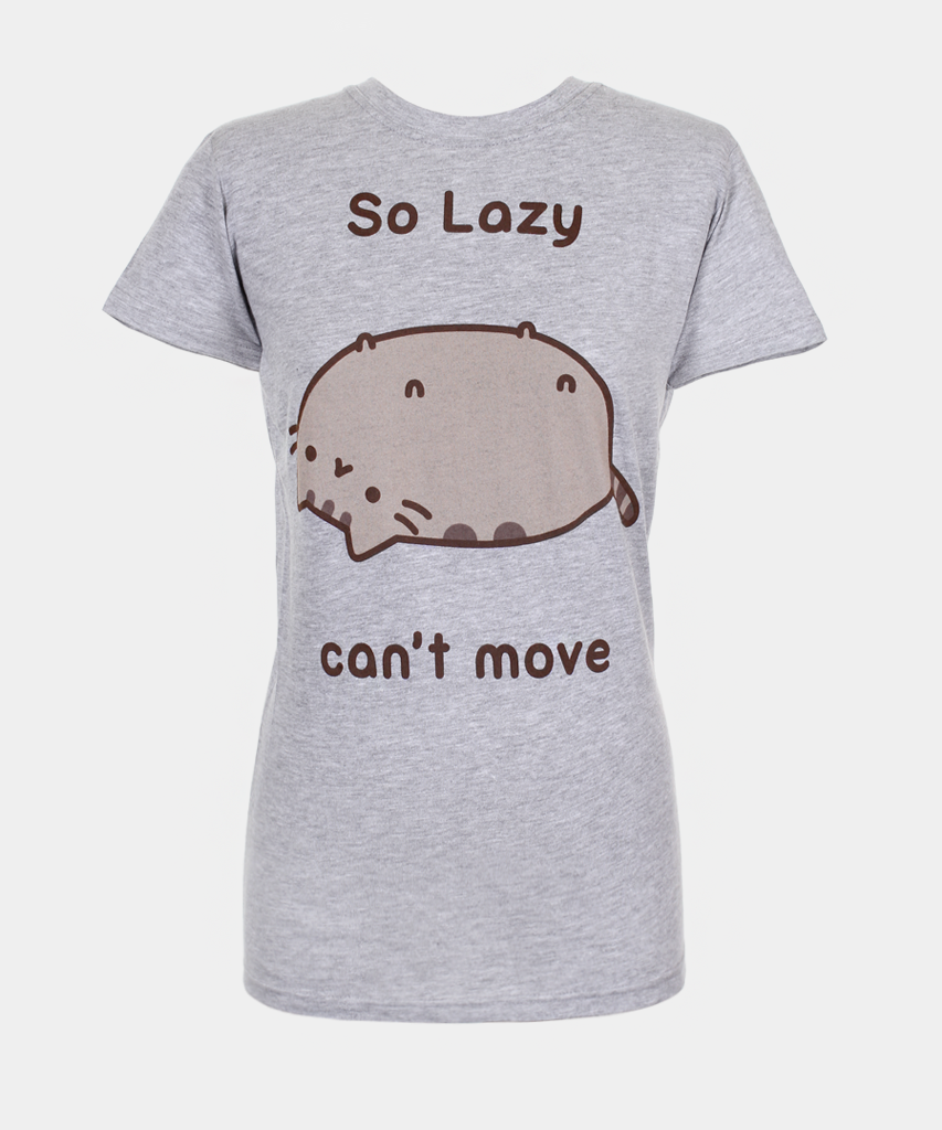 So Lazy Pusheen t-shirt (womens) | Those are her legs not her nipples.  I can see you wearing this shirt.