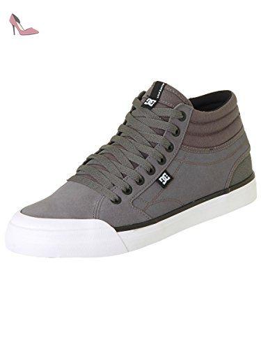 DC Evan Smith TX Chaussures de Skate pour Hommes, EUR: 39, Grey/Gum