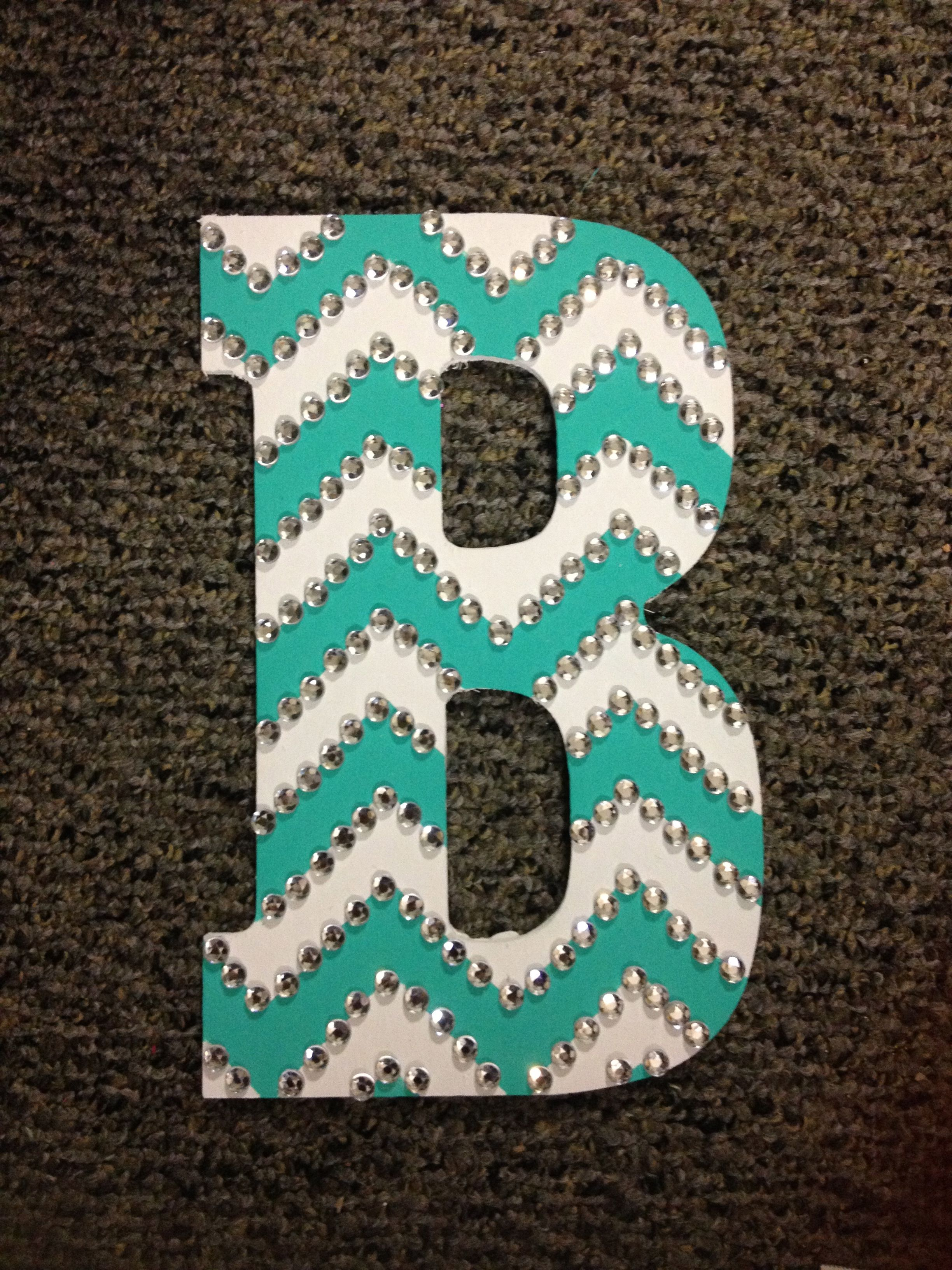 how to make chevrons on a letter | And there you have it! This letter is the perfect gift to give your ...