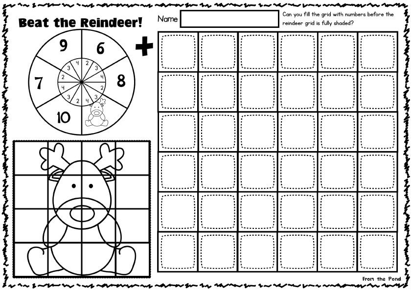 Christmas Print and Play | Addition worksheets, Worksheets and Plays