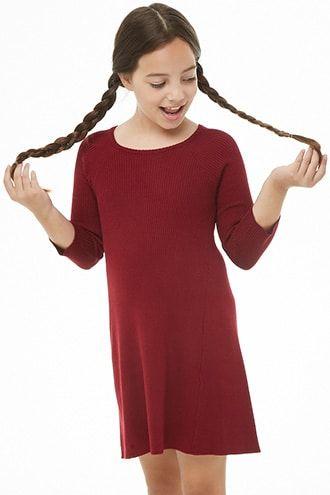 Girls Ribbed Skater Dress (Kids)  9359d7cff