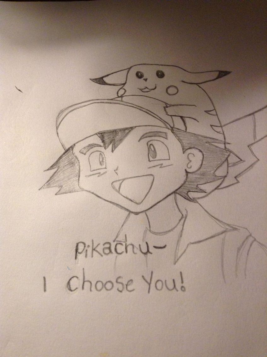 Pikachu and ash! Pokemon