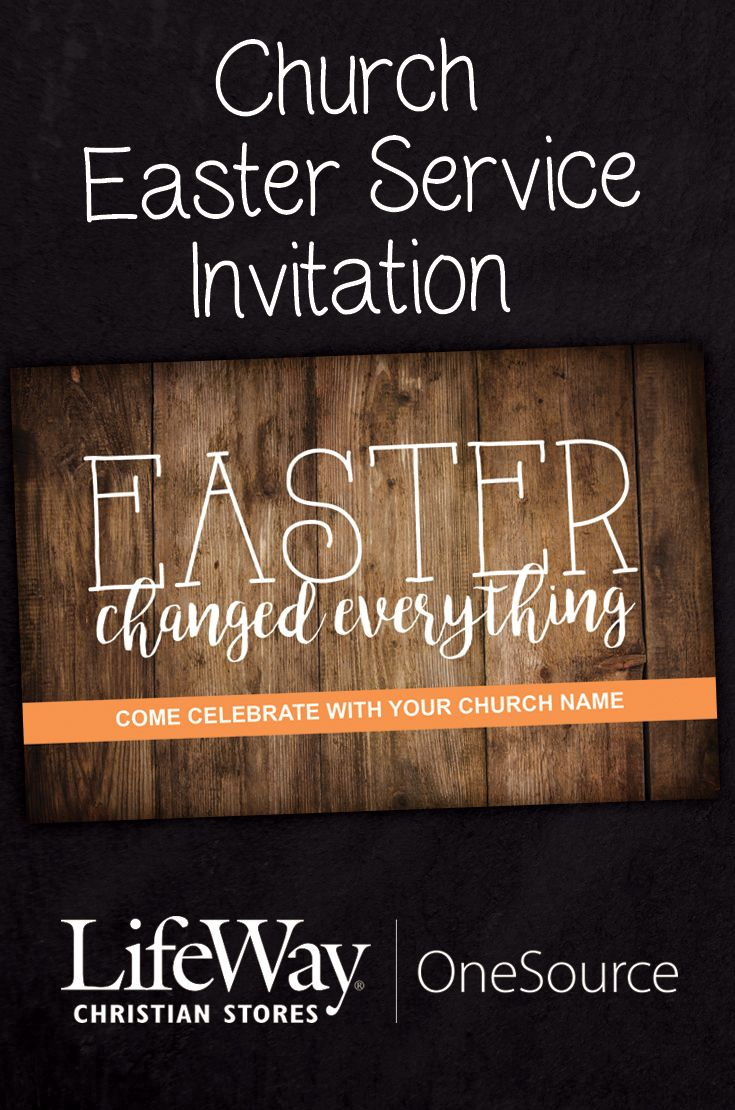 Church Easter Service Invitations