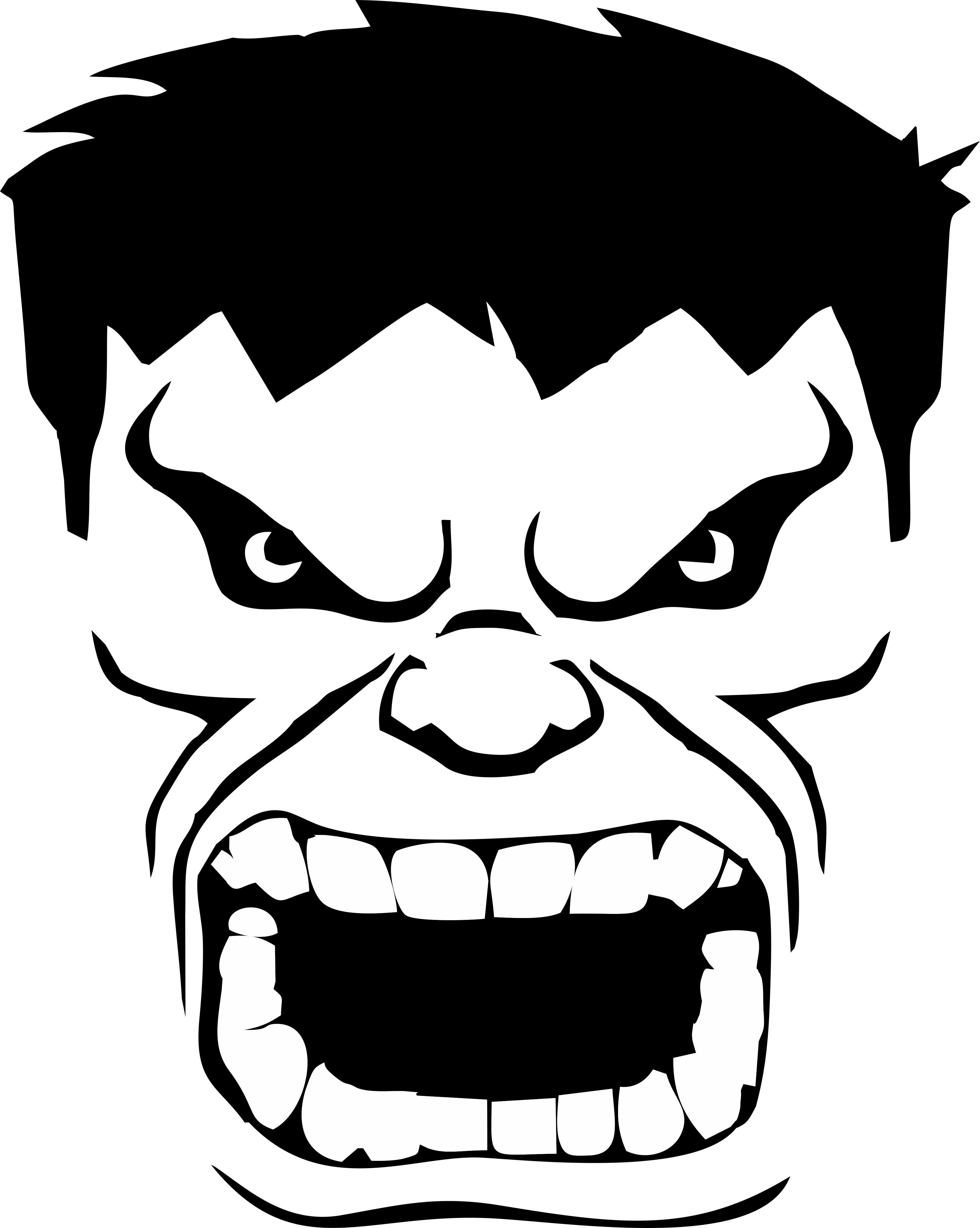 Hulk Face Logo Trendy Art Trendy Art Prints Art Bundle