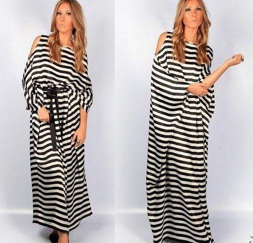 368177d70bd9ce0 Шикарное платье в полоску (выкройка) простая выкройка платья | ШИТЬЕ ...