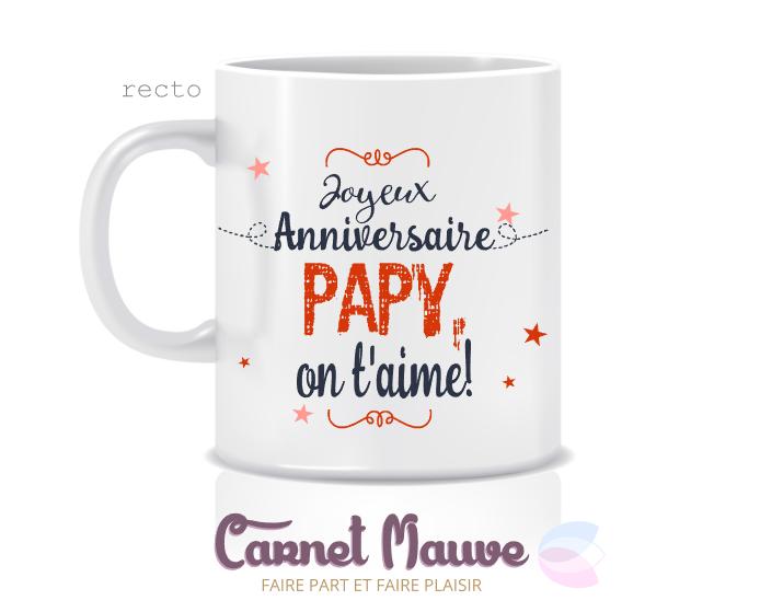 Mug Joyeux Anniversaire Papy Fete Des Peres Ou Grands Peres Mugs