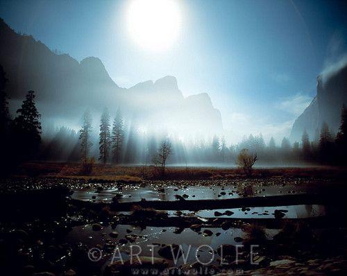 Moonlight over Yosemite Velley, Yosemite National Park, California, USA
