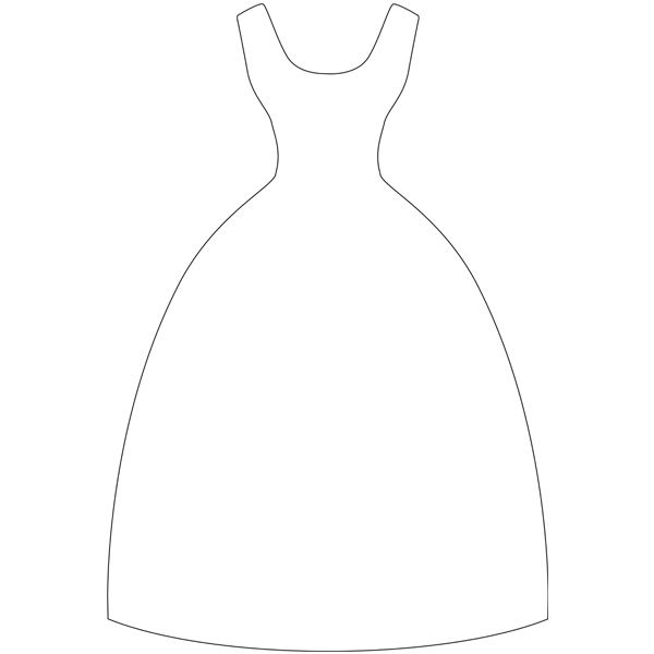 Dress template for card – Wedding Dress Template for Cards