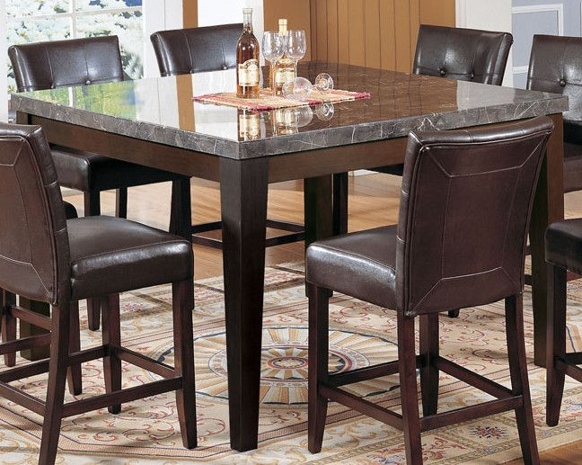 Acme Danville Marble Top Square Counter Height Dining Table In Espresso 07059 By Dining Rooms Outlet Counter Height Dining Table Set Dining Table Counter Height Dining Table