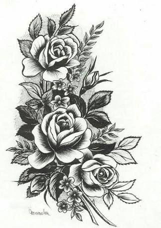 Resultado De Imagem Para Desenho De Rosas Para Tattoo Tatuagem