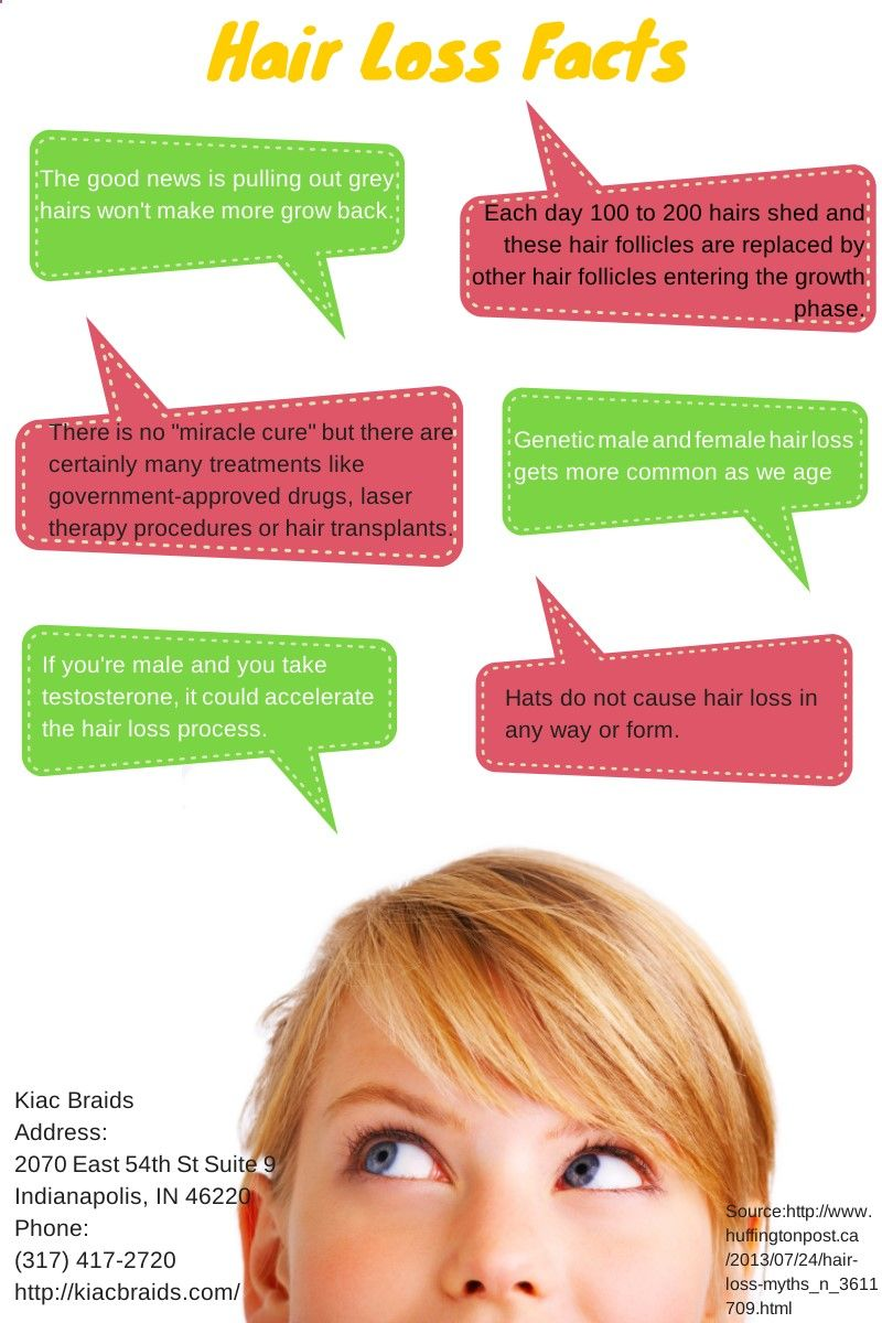 Hair loss facts infographic  Provillus hair loss treatment for