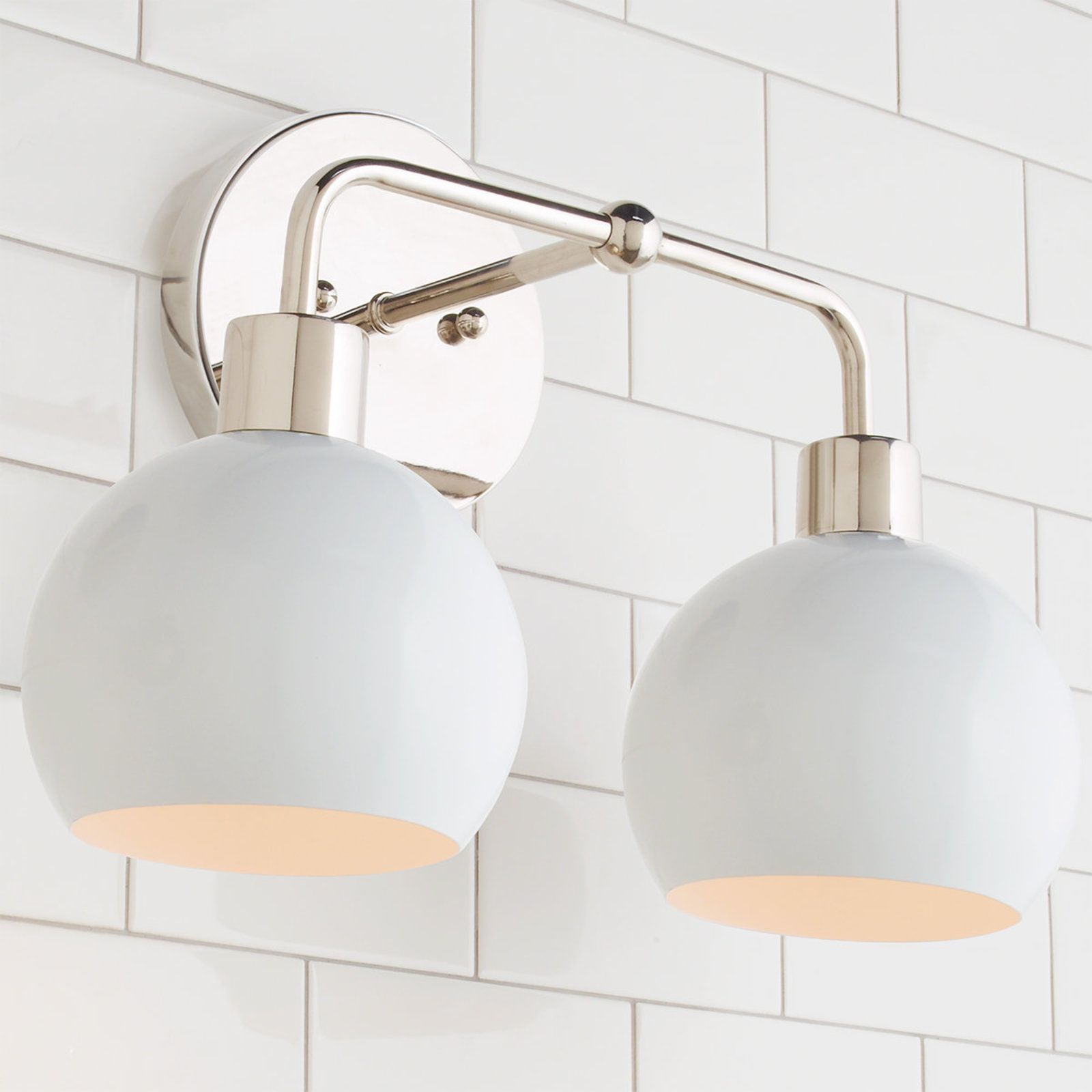 Young House Love Bubble Vanity Light 2 Light Vanity Lighting Young House Love Master Bathroom Decor