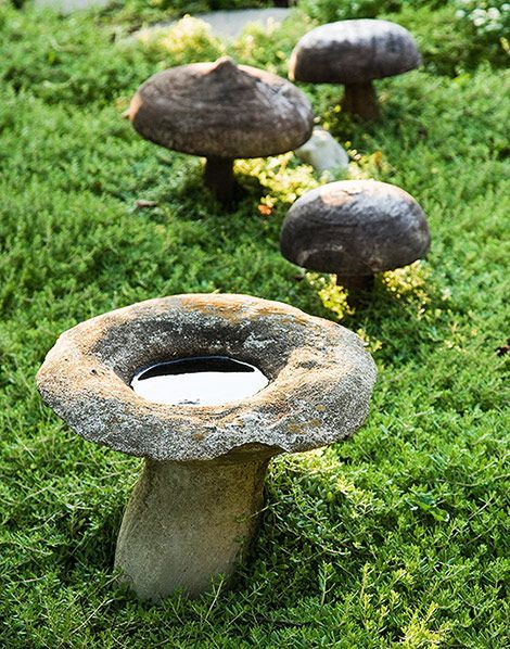 Mushroom Stones Garden Projects Garden Spaces Bohemian Garden