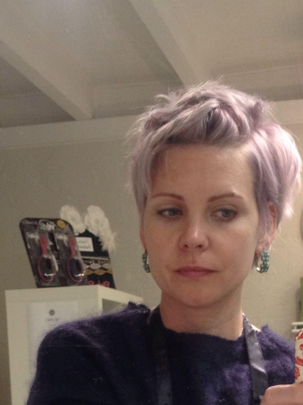 My new pastel lilac...love Schwarzkopf blonde me toners!!