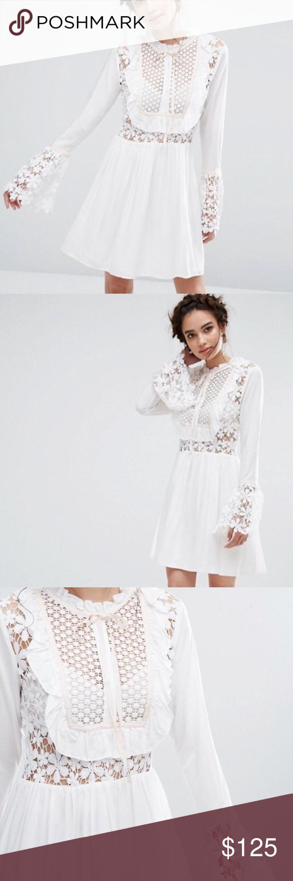 Gorgeous White Lace Dress Spring Dress