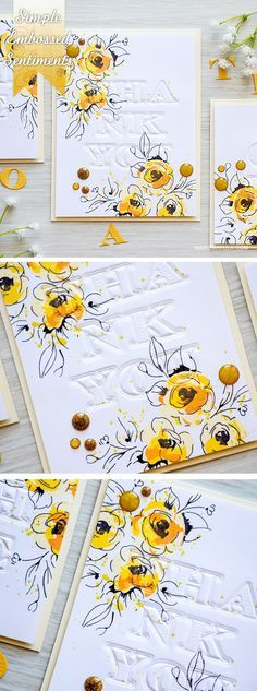Create simple embossed sentiments for your cards with the help of Alphabet Dies. Video and more info here http://www.yanasmakula.com/?p=51617