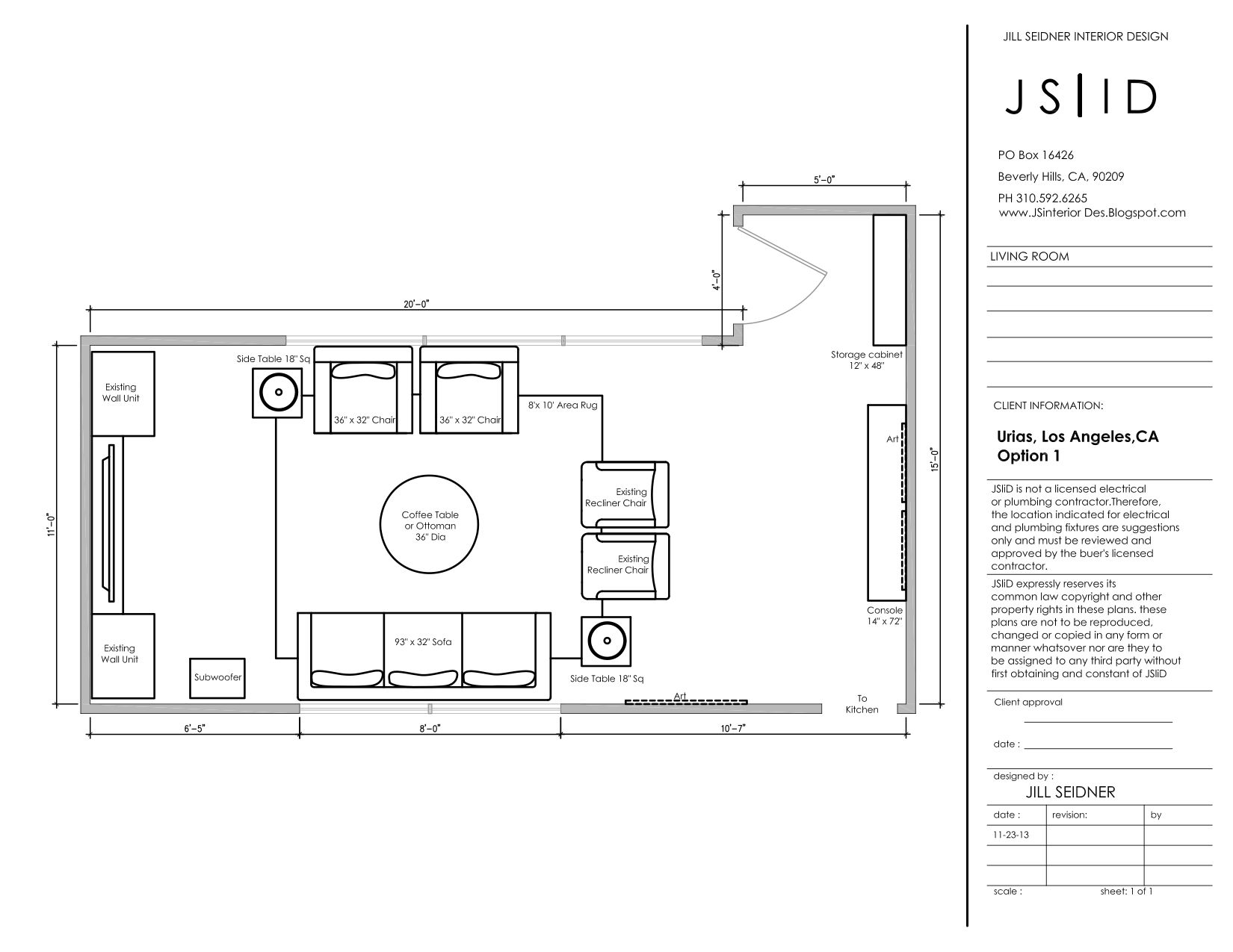 Los Angeles Ca Online Design Project Living Room Furniture Floor