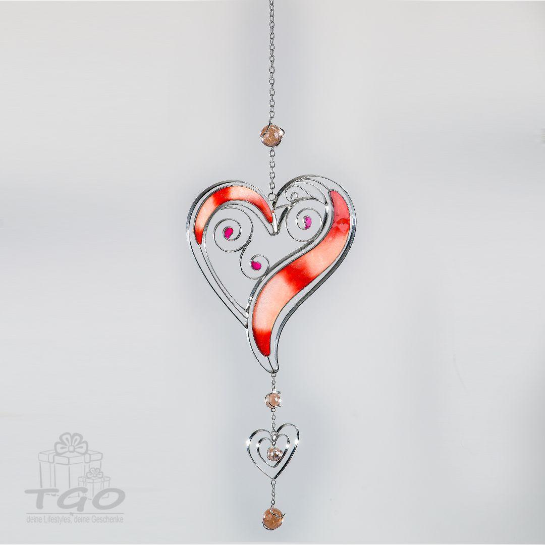 Tiffany Dekoanger Herz Weiss Silber 45cm