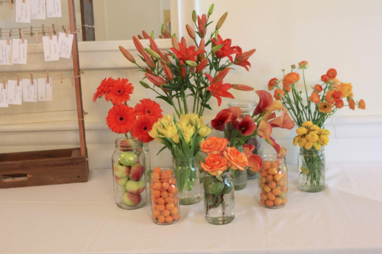 Wild Flower Card Table Arrangement Place Card Petals Pinterest