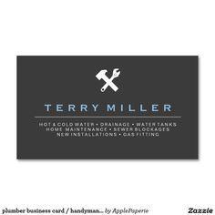 plumber business card handyman business cards business cards