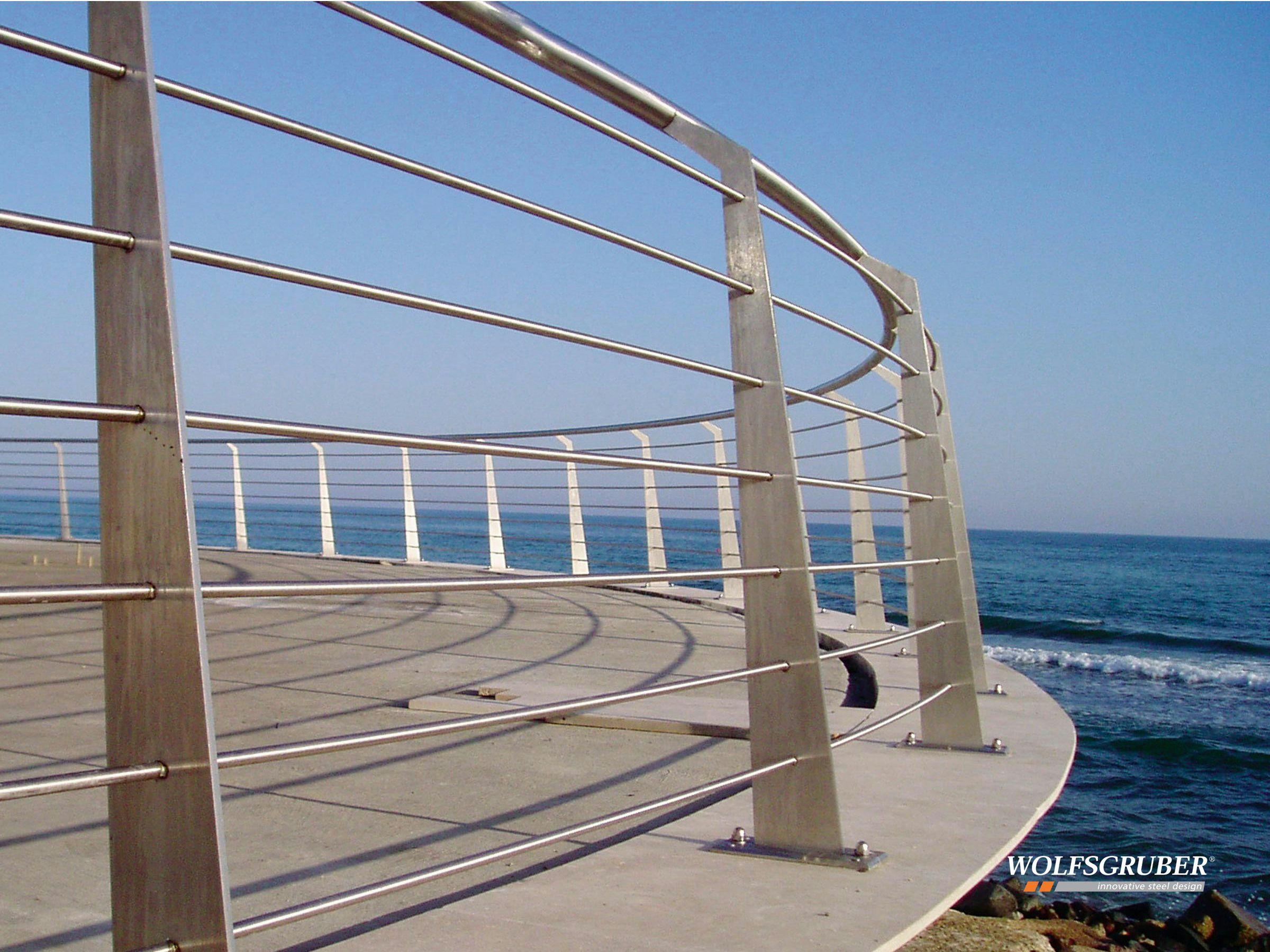 Baranda de escalera de acero inoxidable laser by - Baranda de escalera ...