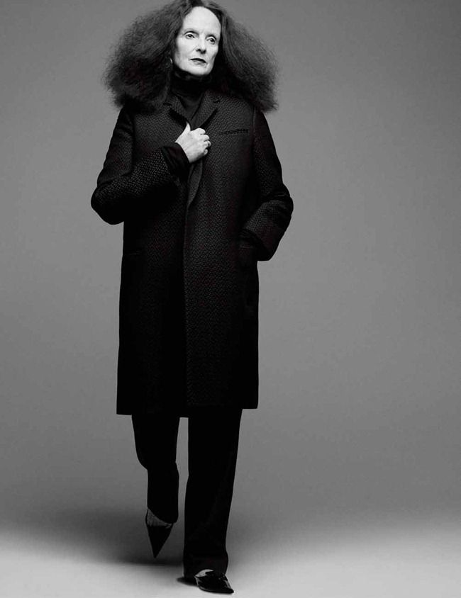INTERVIEW MAGAZINE- Grace Coddington by Craig McDean, January 2013