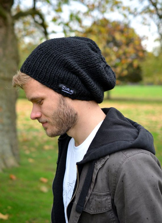 Living a Beautiful Life ~ Slouchy Hat Hand Knitted Mens Women s Slouchy  Beanie Hat by zukas 453dbdcea1bf