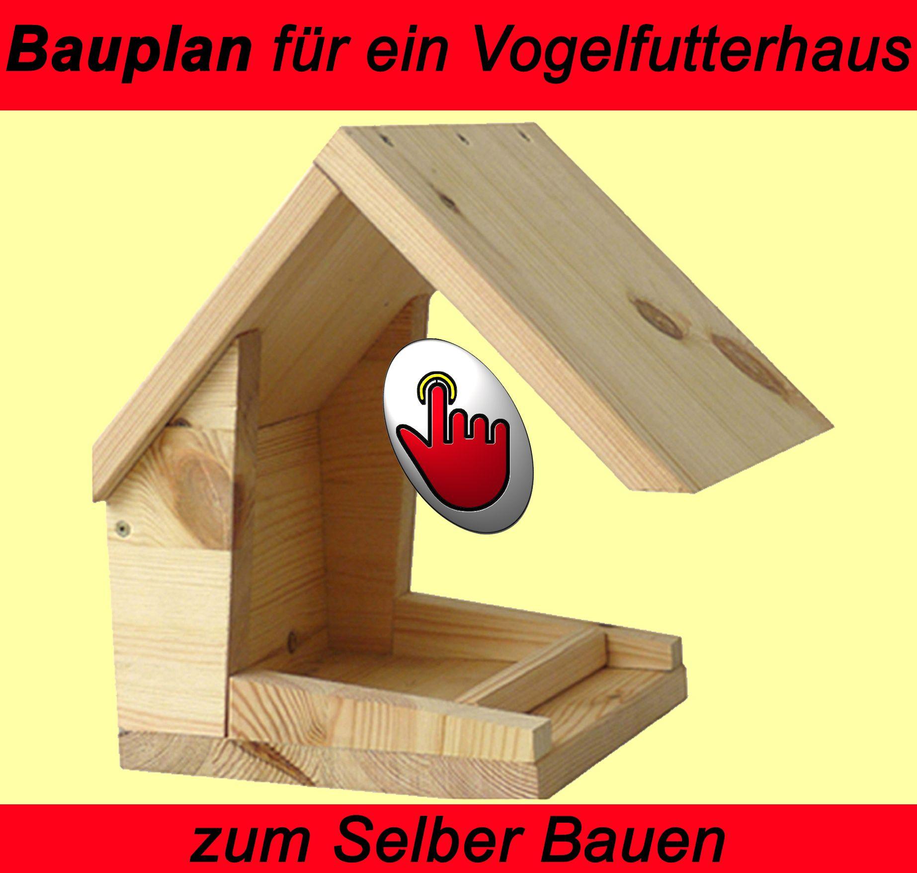 vogelh uschen als vogelfutterhaus aus holz mittels trenn. Black Bedroom Furniture Sets. Home Design Ideas