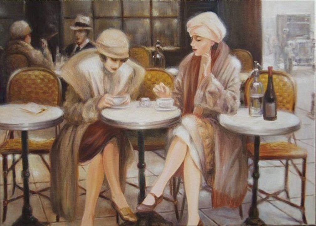 славяне представляли беседа за чашкой чая картинки народными методами справиться