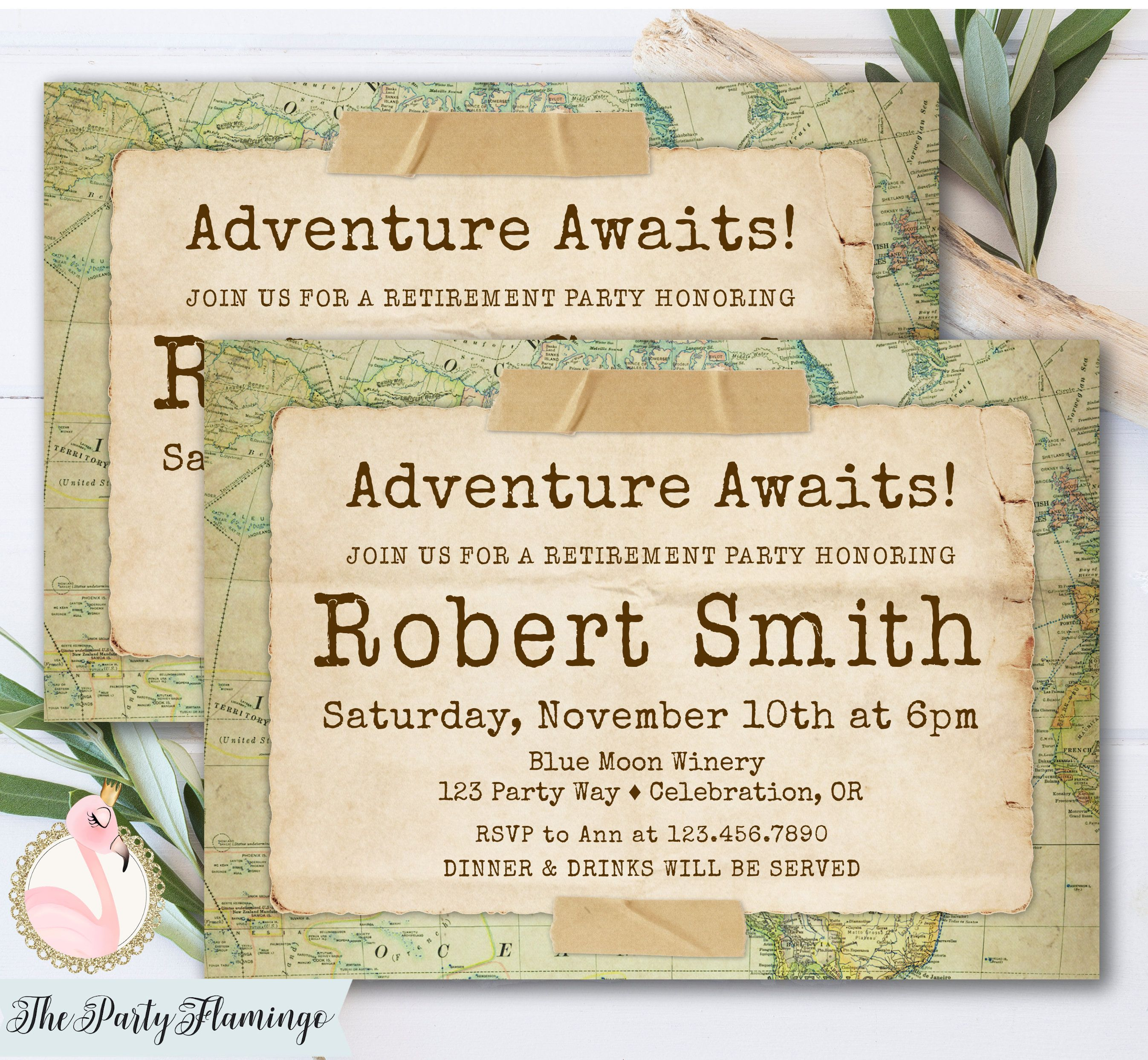 Travel retirement party invitations, adventure awaits ... on no map, art that is a map, can map, would map, tv map, nz map, get map, first map, bing map, future earth changes map, oh map, india map, personal systems map, find map, heart map, gw map, it's map, co map, wo map, ai map,