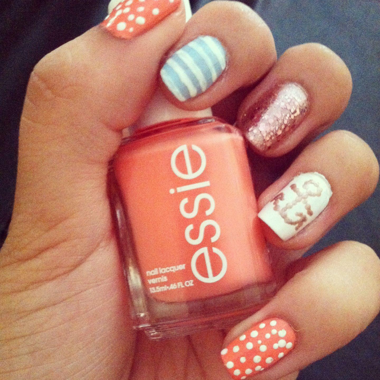 Anchor Nail Design With Essie Nail Polish 3tiff Pinterest