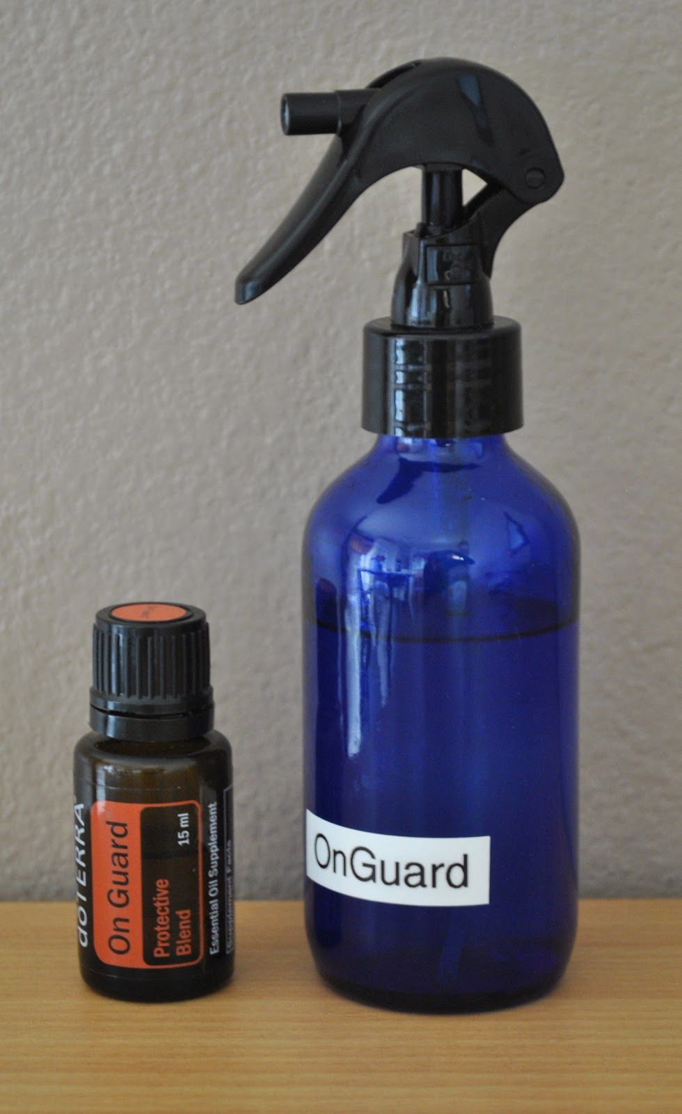 Homemade disinfectant spray using water and essential oils