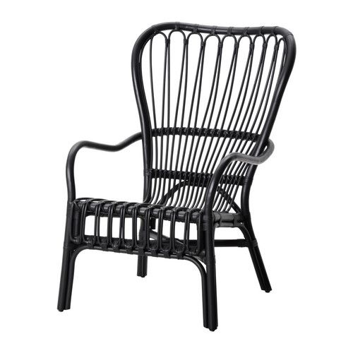 Charmant IKEA STORSELE High Back Armchair Black/rattan The Furniture Is Handmade And  Therefore Unique, With Rounded Shapes And Nicely Detailed Patterns.