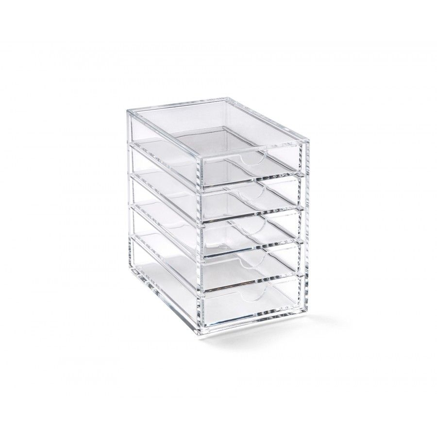 acrylic 5 drawer storage box desktop drawers desk. Black Bedroom Furniture Sets. Home Design Ideas