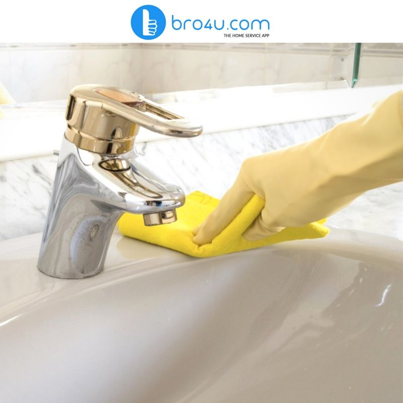 Cleaning of tiles, faucets, sinks, taps, pots, shelves, cabinets ...
