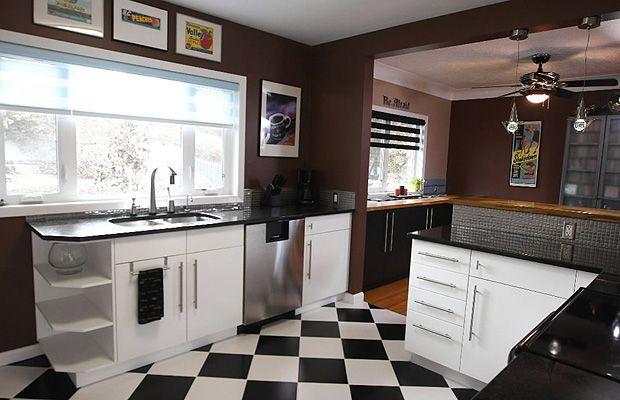 Decora 231 227 O 15 Cozinhas Com Piso Preto E Branco Cores Da
