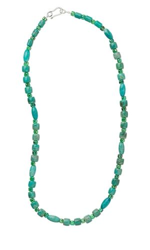 Single-Strand Necklace with Turquoise Beads and Seed Beads