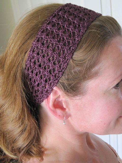 Summer Lace Headband Pattern By Cirsium Crochet Crochet Tutorials
