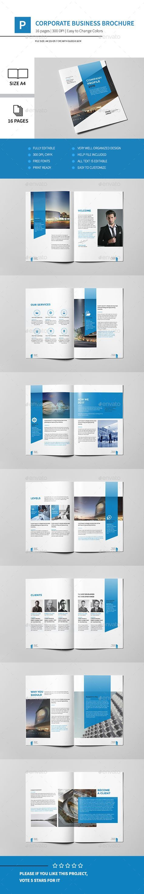 corporate business brochure 16 pages a4 corporate brochures book