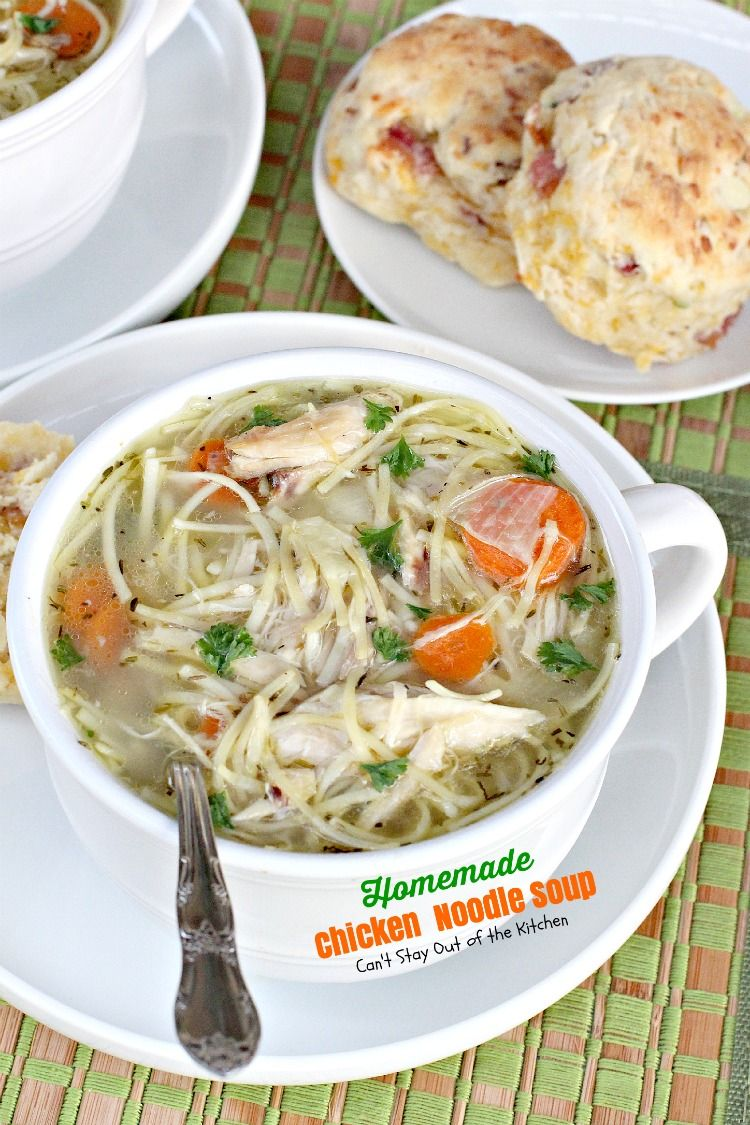 homemade chicken noodle soup | recipe | chicken noodle