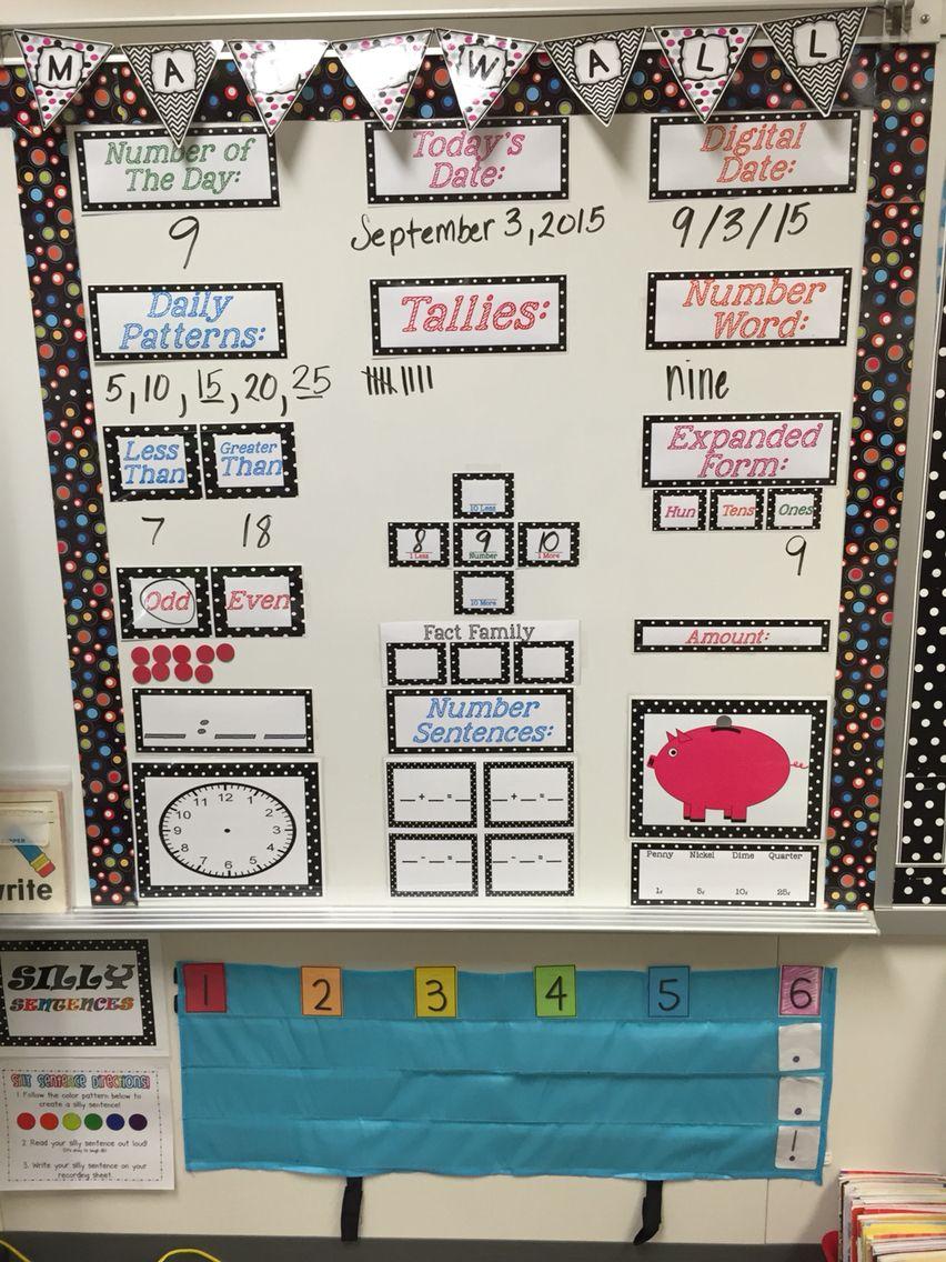 Kindergarten Calendar Wall : Math focus wall set remastered walls