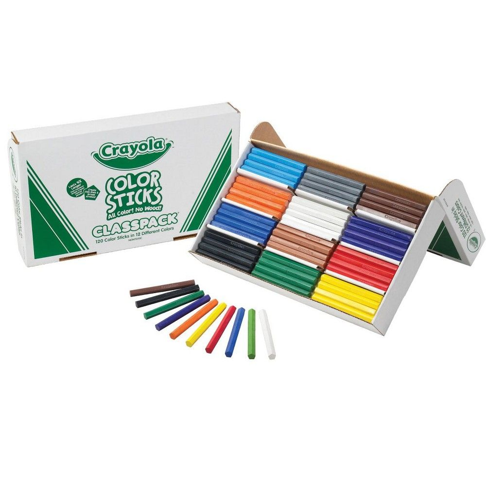 Crayola Woodless Pentagon Colored Pencil Classpack Assorted
